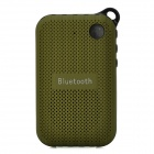 B03 Portable Outdoor Bluetooth Speaker w/ FM / Hands-Free / Microphone / TF - Army Green + Black