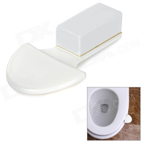 Mini Creative Hygienic Handle for Toilet Closestool Seat Ring - White