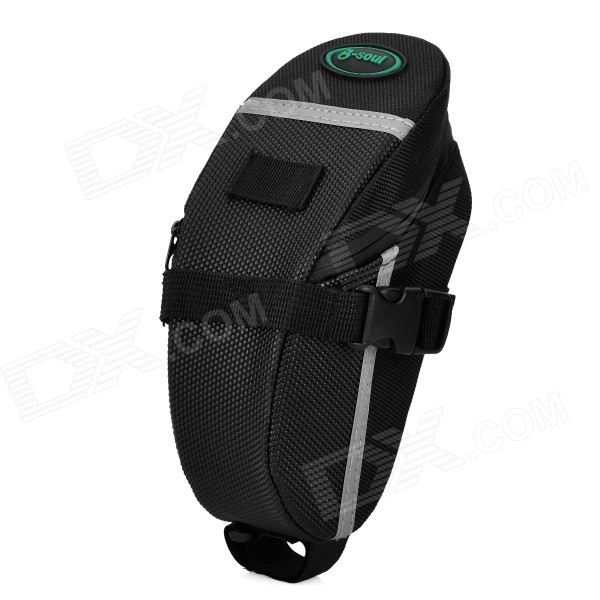 B-SOUL 1317 600D Nylon Fabric Saddle Bag for Moutain Bike - Black