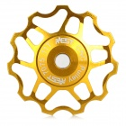 AEST AEST-14 Bike Bicycle Ultra Light 11T Aluminum Alloy Wheels Rear Derailleur Pulley - Gold