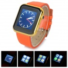 "A8 1.5"" Capacitive Screen Bluetooth V4.1 Smart Watch - Black + Golden + Orange"