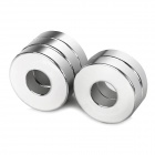 20 x 5mm / 8.1mm Annulus Shaped NdFeB N35 Magnet - Silver (5PCS)