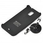 External 3800mAh Lithium Polymer Battery Back Case for Samsung Galaxy Note 4 - Black