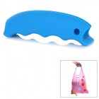 Silicone Handbag / Basket / Shopping Bag Easy Carrier Holder Handle Grip - Sky Blue