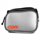 CBR CBR-09 Bicycle EVA Front Tube Bag w/ Sun Visor - Black + Silver