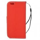 Protective Flip-Open PU Leather Case for IPHONE 6 - White + Red