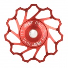 AEST AEST-14 Bike Bicycle Ultra Light 11T Aluminum Alloy Wheels Rear Derailleur Pulley - Red