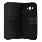 Protective PU Leather Flip-Open Case for Samsung Galaxy Grand Neo / i9060 - Black