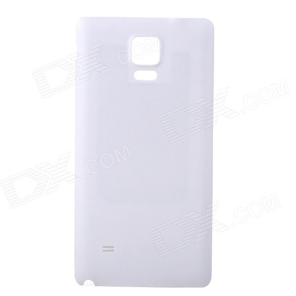 WPC Qi Standard Wireless Charger Receiver Back Case for Samsung Galaxy NOTE 4 - White
