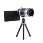 14X Zoom Wide Angle Telephoto Lens Telescope for IPHONE 4 / 4S / 5S - Silver + Black