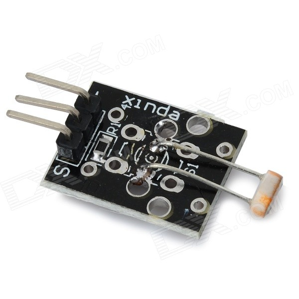 3-Pin Light Sensor Module for Arduino - Black (Works with Official Arduino Boards) alcohol sensor module for arduino works with official arduino boards