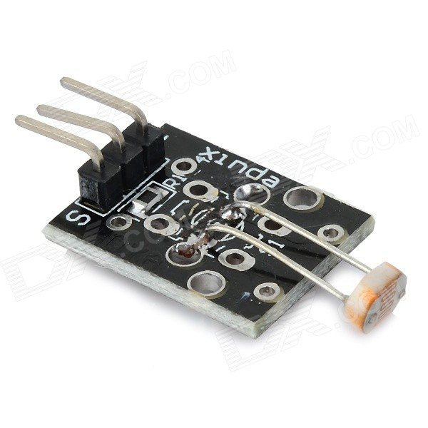 3-Pin Light Sensor Module for Arduino - Black (Works with Official Arduino  Boards)
