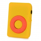 Wood Grain Style MP3 Player w/ Clip / TF / Mini USB / 3.5mm Jack - Yellow + Red