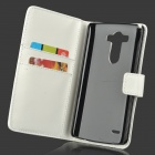 Protective PU Leather Case w/ Stand for LG G3 - White