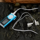 "1.2 ""OLED MP3 Player w / Torch / Clip / TF / Mini USB - azul + preto"
