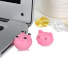 Lovely Cartoon Piggy Style USB 2.0 Flash Drive Disk - Pink (8GB)