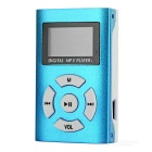 "Mini Purse Style 0.8"" OLED Screen MP3 Player w/ TF - Blue + White"