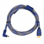 Yellow Knife YK064 HDMI to HDMI V1.4 90 Degree Angle HD Convert Cable - Blue + Multicolor (3m)