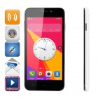 "D6 SC7715 Android 4.4.2 WCDMA Smart Phone w/ 5.0"" FVGA, 1GB RAM, 4GB ROM - White + Black"