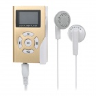 "Mini-Geldbeutel-Art 0,8 ""OLED-Bildschirm MP3-Player w / TF / 2,5 mm Jack - Gold + weiß"