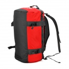 LOCAL LION Multi-Functional Outdoor Travel Water Resistant Polyester Bucket Bag - Red (45L)