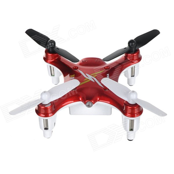 SYMA X12 2.4GHz 4-Channel 6-Axis Gyro Mini R/C Quadcopter Aircraft Toy - Red