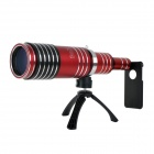 80X Zoom Telephoto Lens Telescope w/ Tripod Mount + Back Case for IPHONE 6 - Red + Black + Silver