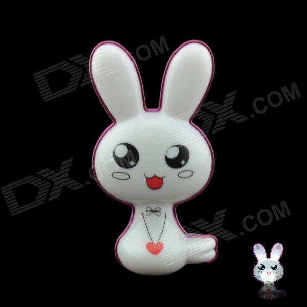 G4 0.1W 21lm 6500K White Light Cute Rabbit Style Intelligent Light Control LED Night Lamp (US Plug) intelligent light control camera dedicated 48w led light powerful led according to the license plate100w for roads light factory