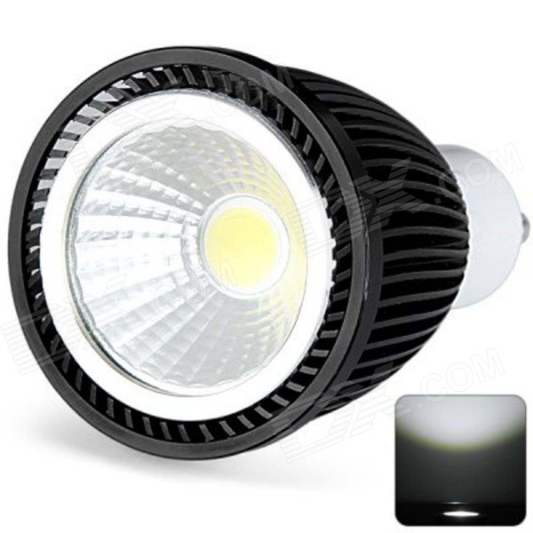 GU10 6W 710lm Cold Hvit COB LED Spot Light - svart (AC 220 ~ 240V)