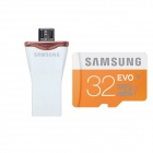 Samsung Micro SDHC 32GB Class UHS-I + Samsung OTG Micro USB 2.0 to USB 2.0 Flash Drive for Android