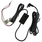 24V / 12V to 5V Car DVR On-board Uninterrupted Power Voltage Cable - Black
