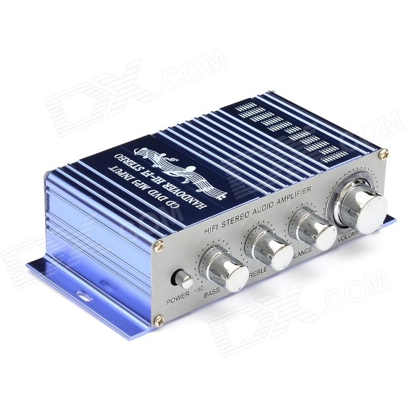 T-2002 2-Channel Hi-Fi Car Stereo Audio Amplifier w/ MP3 / DVD / VCD Input - Blue + Silver блокада 2 dvd