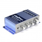 T-2002 2-Channel Hi-Fi Car Stereo Audio Amplifier w/ MP3 / DVD / VCD Input - Blue + Silver