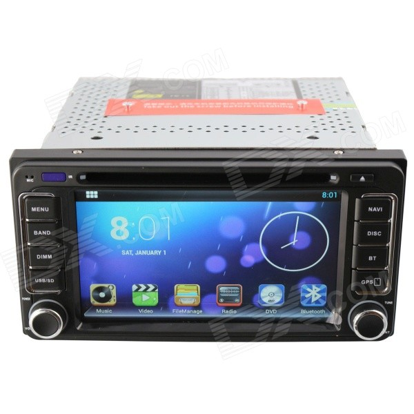 "6.2"" Capacitive Screen Android 4.2 Car DVD Player w/ GPS / Wi-Fi / 3G / OBD II for Toyota - Black"