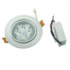 YouOkLight 5W 3000K 420lm 5-LED Warm White Light Ceiling Lamp w/ Driver - White (AC 100~240V)