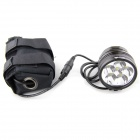 UltraFire 6 -V5 6 -LED 5000lm 3 -Mode High Power Bike Light - черный ( 6 х 18 650 )
