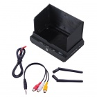 "RC700D 7"" FPV Monitor w / 5.8G Dual 32CH Wireless Diversity Receiver - Musta"