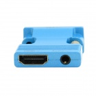 CY HD-173-BL HDMI Female to VGA Male Adapter w/ Audio Output for PC / Laptop + More - Blue