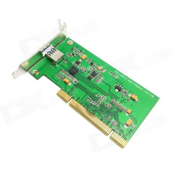 DX / CY U3-191 Single Port Super Speed USB 3.0 to PCI Card for PC - Green