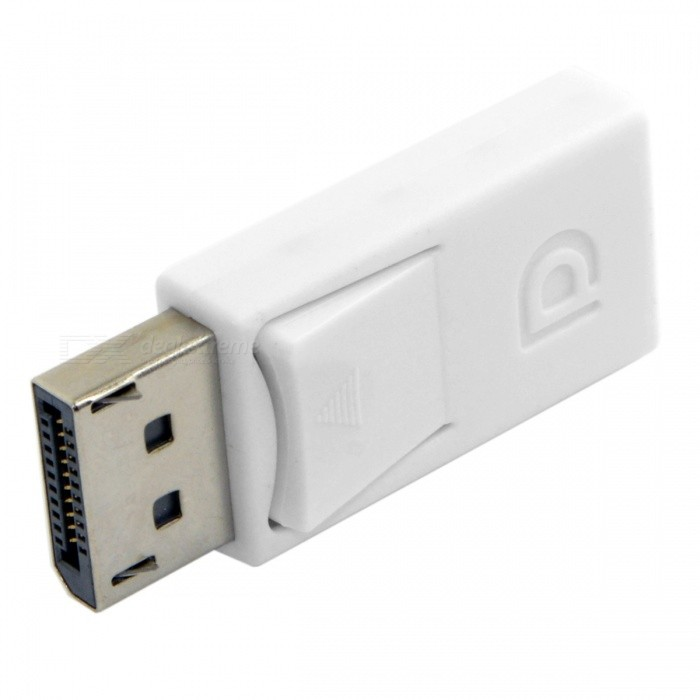 CY DP-052-WH DisplayPort macho a adaptador Extensión Mini DP Mujer para APPLE MACBOOK - Blanco