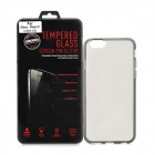 "Protective Plastic Back Case + Tempered Glass Screen Guard Set for IPHONE 6 4.7"" - Translucent Black"