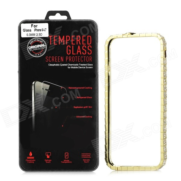 Elegant Zinc Alloy Bumper Frame Case + Tempered Glass Screen Guard for IPHONE 6 4.7 плакат a3 29 7x42 printio bloodborne