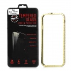 Elegant Zinc Alloy Bumper Frame Case + Tempered Glass Screen Guard for IPHONE 6 4.7""