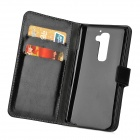 Protective PU Leather Case w/ Stand for LG G2 - Black