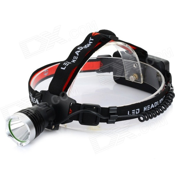 RAYSOON RS-T6 500lm 3-Mode White Light LED Headlamp - Black + Greyish White (1 x 18650 / 3 x AAA) 600lm 3 mode white bicycle headlamp w cree xm l t6 black silver 4 x 18650