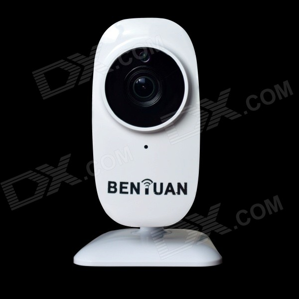 BENYUAN BN-HIP100C 1/4'' CMOS 1.0MP Home Smart IP Camera w/ 1-IR-LED / Wi-Fi / TF / IR-CUT - White