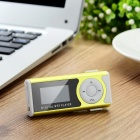 "Mini 1.2"" OLED Display MP3 Player w/ Flashlight / TF / Mini USB / 3.5mm - Green + White"