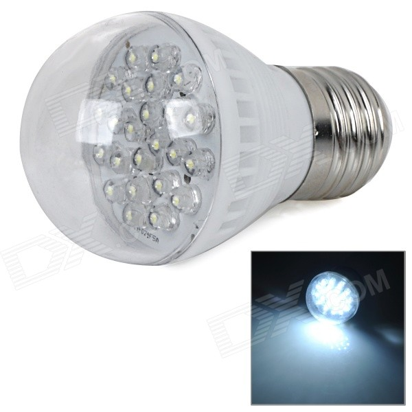 E27 1.5W 90lm 12000K 24-LED Cool White Light Energy-Saving Bulb - White + Silver (AC 220V)