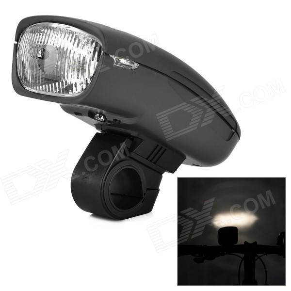 4.8V / 0.5A Krypton Ampoule chaud vélos White Head Lamp - Noir (4 x AA)