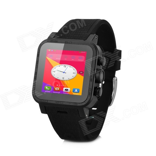 1.54 IPS Dual-Core Android 4.4.2 Smart Watch Phone w/ 1.54 Screen, 4GB ROM, Bluetooth, 3.0MP Cam jiake f1w 5 0inch capacitive touch screen mtk6572 dual core 1 2ghz smartphone 512mb 4gb 2 0mp 0 3mp android 4 2 os 3g gps with protective case black